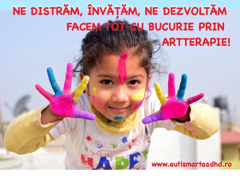 Nne distram, invatam, ne dezvoltam , facem tot cu bucurie prin ARTTERAPIE